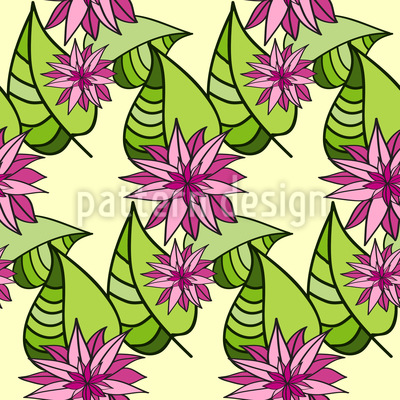 Sternen-Blüten und Blätter Designmuster