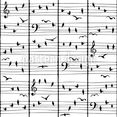 Musikalische Vögel Vektor Ornament