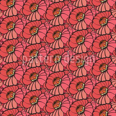 Lollipop-Blüten Nahtloses Vektor Muster