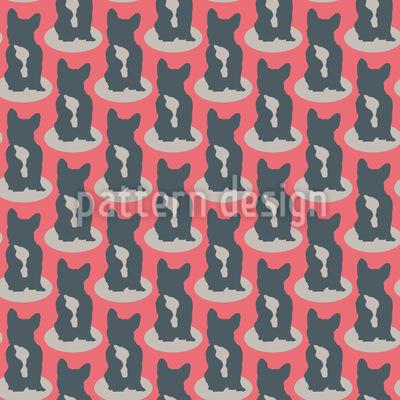 Bulldog Silhouetten Musterdesign