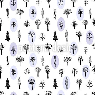 Handgezeichnete Bäume Vektor Ornament