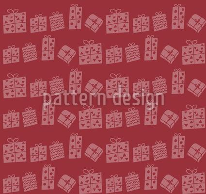 Weihnachtsgeschenke Nahtloses Vektor Muster