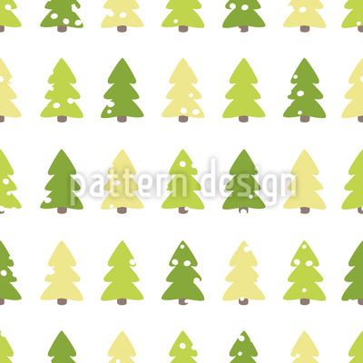 Bäume Im Winter Muster Design