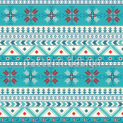 点線のクリスマス シームレスなベクトルパターン設計