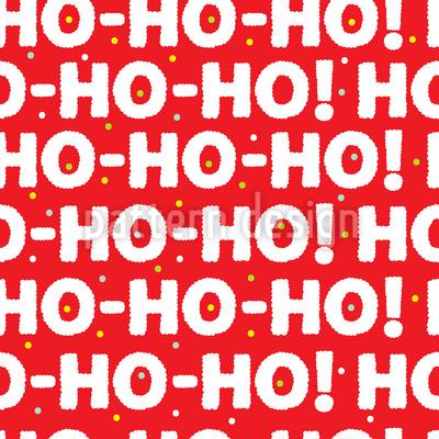 Der Weihnachtsmann Ist Da Muster Design