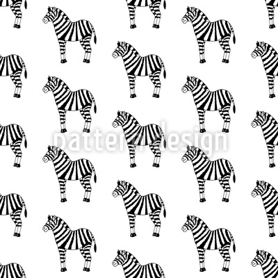 Spielzeug Zebra Vektor Muster