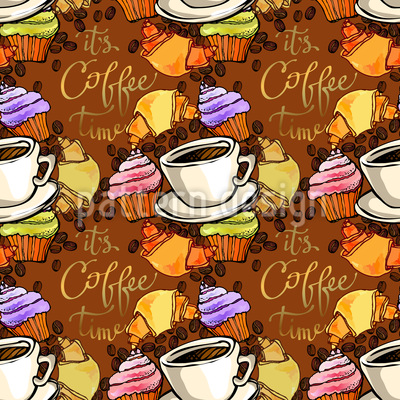 Kaffeepause Nahtloses Vektormuster