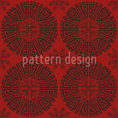 Chinesische Räder Nahtloses Vektor Muster