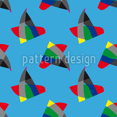 Vogel oder Fisch Muster Design