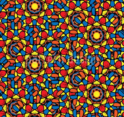 Gotisches Mosaik Rapport