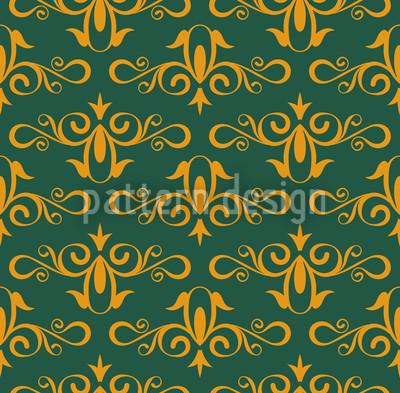 Aschenputtel Grün Nahtloses Vektormuster