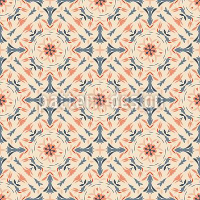 Florale Renaissance Nahtloses Vektormuster