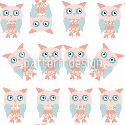 Eulen Zwillinge Nahtloses Muster