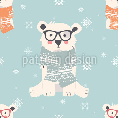 Winter Bären Musterdesign