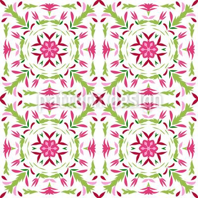Frische Florale Renaissance Designmuster