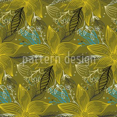 Spätsommer Blüte Designmuster