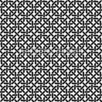 Verwobene Streifen Rapportiertes Design