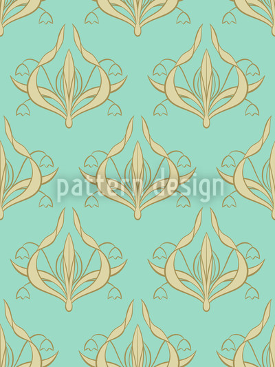 Lily Aquamarine Vector Ornament