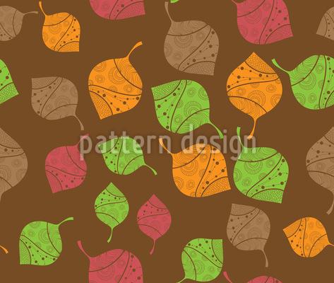 Herbstliche filigrane Blätter Vektor Design