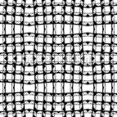 Karierte Geometrische Struktur Musterdesign