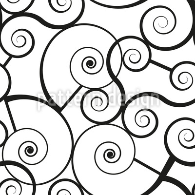 Grafische Schneckenschnörkel Vektor Ornament