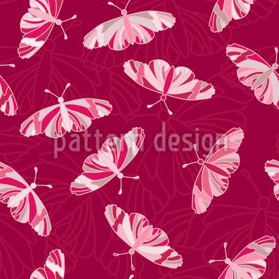 Schmetterlinge Fliegen Rapportiertes Design