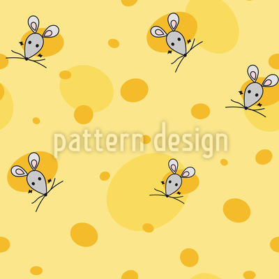Mäuse Im Käse Rapportiertes Design