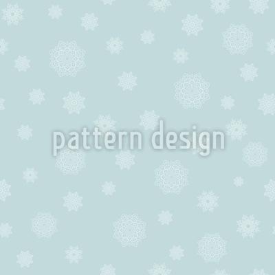 Sternen-Schneeflocken Nahtloses Vektor Muster