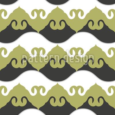 Schwingende Wellen Ornamente Vektor Muster