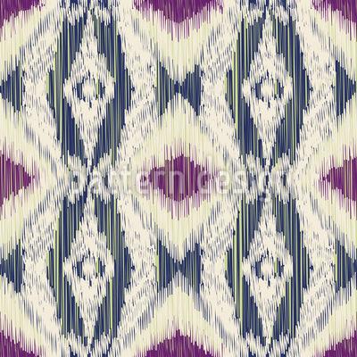 Geometrisches Ikat Muster Design