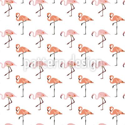 Pinker Flamingo Nahtloses Vektormuster