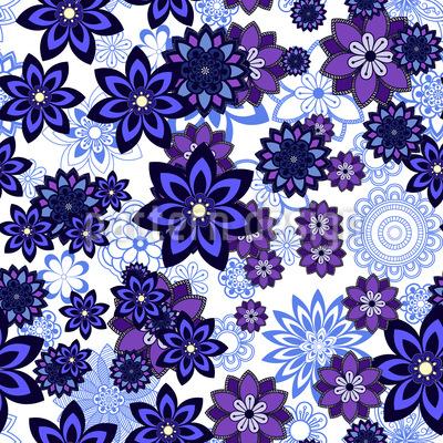 Sprinkles di fiori disegni vettoriali senza cuciture