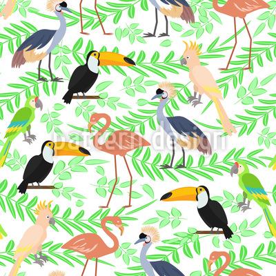 Exotische Vögelchen Rapportiertes Design
