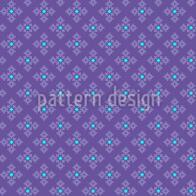 Pixel Schneeflocken Muster Design