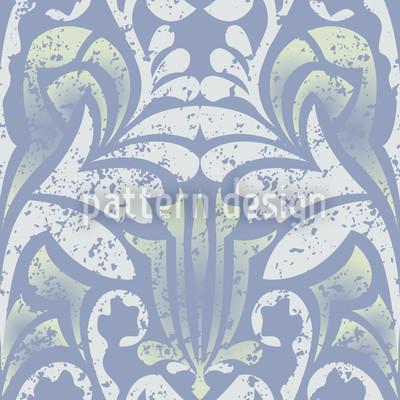 Damasko Blau Nahtloses Muster