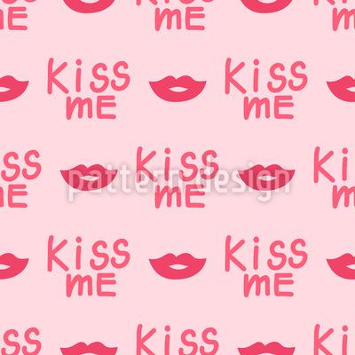 Kiss Me Vector Ornament