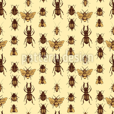 Realistische Käfer Vektor Muster