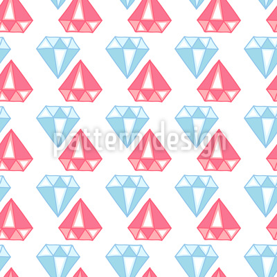 Diamonds are a Girls best Friend Seamless Vector Pattern Design
