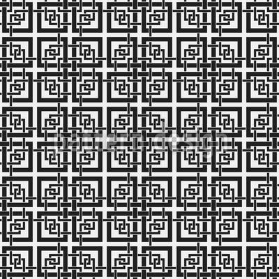 Chinesisches Fenster Gitter Nahtloses Vektormuster