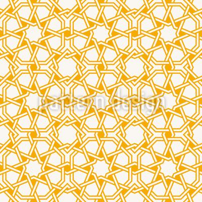 Estrelas Islâmicas Design de padrão vetorial sem costura