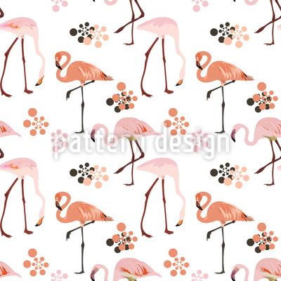 Flamingo Leben Musterdesign