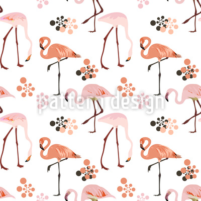 Flamingo Life Seamless Vector Pattern Design