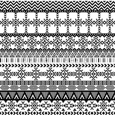 Winter-Stickerei Nahtloses Vektor Muster