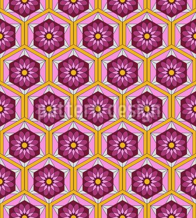 Sechziger Blumen Geometrie Rapport