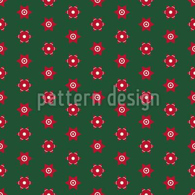 Stilisierter Weihnachtsstern Nahtloses Muster