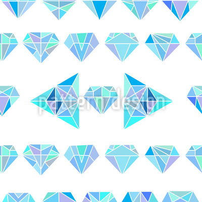 Dimensional Diamonds Seamless Vector Pattern