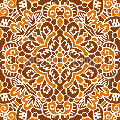 Amply Embellished Tile Repeat Pattern