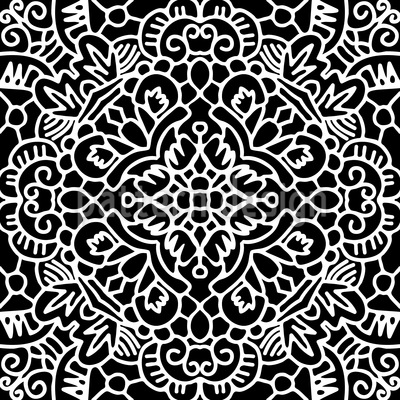Ornamental Impressions Seamless Vector Pattern Design