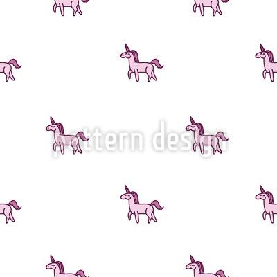 Happy Unicorn Seamless Pattern