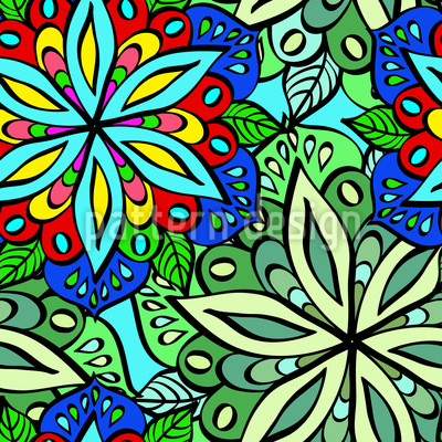 Aufgeweckte Flora Nahtloses Vektormuster